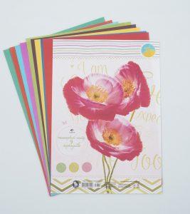 Кольоровий папір для дівчаток - 9 аркушів