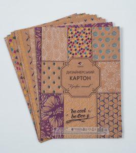 Дизайнерський картон Крафт мотив - 9 аркушів