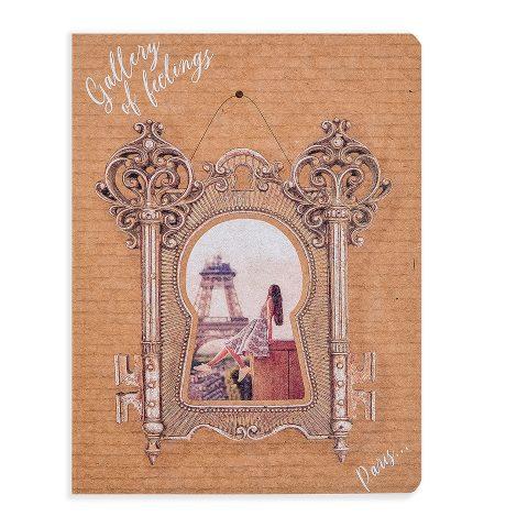 """Блокнот крафтовий """"Париж"""" рамка замок, 112 аркушів, фото"""
