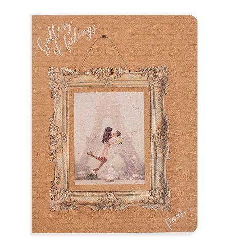 """Блокнот крафтовий """"Париж"""" прямокутна рамка, 112 аркушів, фото"""
