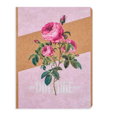 """Блокнот крафтовый """"Винтаж"""" розы, 112 листов, фото"""