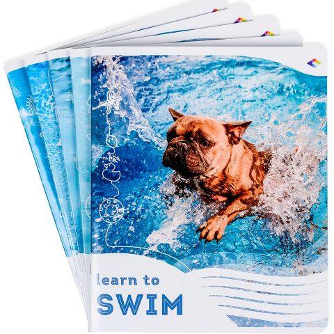 """Зошити шкільні """"Вчися плавати"""" фото"""