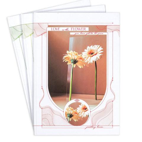 """Зошит офісний А4 """"Любов це квіти"""" фото"""