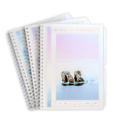 """Блокнот А5 з пластиковою обкладинкою """"Чарівне узбережжя"""" фото"""