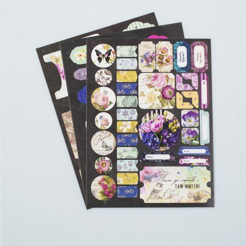 Набір висічок на картоні Спілий виноград - 3 аркуша