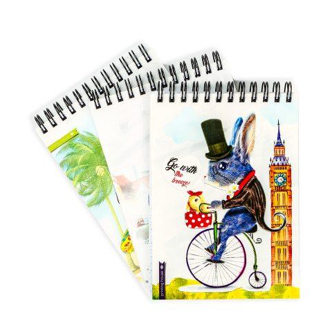 """Блокнот А6 """"Животные на велосипедах"""" фото"""