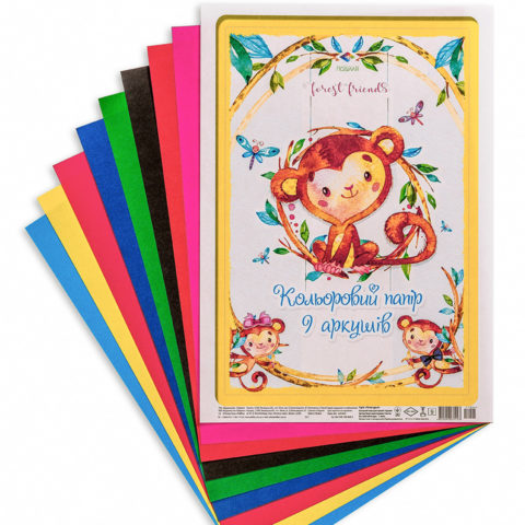 Цветная бумага «Лесные друзья» фото
