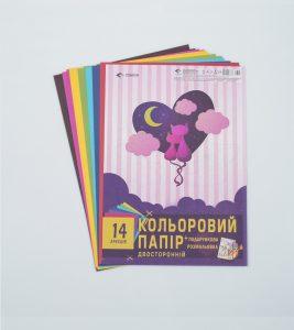 Кольоровий папір Закохані котенята - 14 аркушів